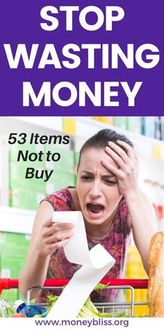 Learn how to grocery shop on a budget. Save money by using this list of items not to buy. These grocery money saving tips will save more money. These items should not be on your grocery list. Money Hacks, Money Tips, Money Saving Tips, Save Money On Groceries, Ways To Save Money, Saving For Retirement, Frugal Living Tips, Tight Budget, Reading Material