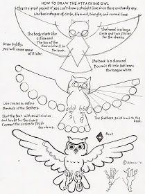 How to Draw Worksheets for Young Artist: How to draw an attacking owl - a drawing skillbuilder