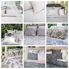 Crane & Canopy Designer Bedding has textures, patterns, and prints in many fun shades of gray. And the pricing is awesome! Check them out!