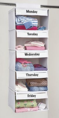 Days of the week clothes organizer for kids