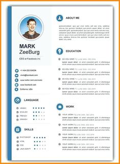 Free Resume Templates Doc Resume Doc Template Visual Resume within Cv Templates ---CLICK IMAGE FOR MORE--- resume how to write a resume resume tips resume examples for student Free Cv Template Word, Cv Templates Free Download, Best Free Resume Templates, Microsoft Word Resume Template, Resume Template Examples, Resume Design Template, Word Templates, Design Resume, Letterhead Template