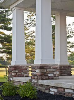 1000 ideas about porch pillars on pinterest mansions for Wrap around porch columns