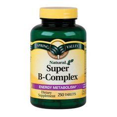 Spring Valley Super B-Complex Dietary Supplement Tablets, 250 count: Vitamins : Walmart.com