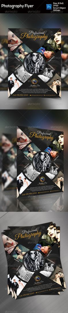 Photography Flyer — Photoshop PSD #poster #fashion • Available here → https://graphicriver.net/item/photography-flyer/8773862?ref=pxcr