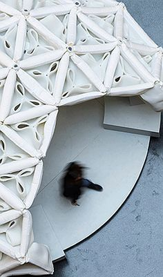 SPACERFABRIC, EXPERIMENTAL PAVILION BY FRANKFURT UNIVERSITY (Christoph Lison Photography) Frankfurt, Textiles, Geodesic Dome, Pavilion, University, Photography, Home Decor, Frosting, Architectural Firm