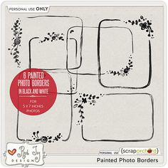 Painted Photo Borders by Red Ivy Design is now available at Scrap Orchard at 20% off. Also check out her   Painted Page Borders.  Give a lovely touch to you scrapbook layouts with these beautiful borders