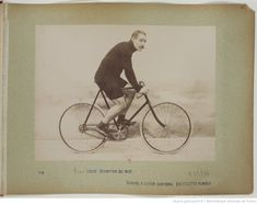 F. 43. Henri Loste, Champion du Midi, Chaîne à levier Simpson, Bicyclette Humber; Collection, Sport Photography, Athlete