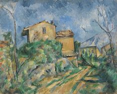'Maison Maria With A View Of Chateau By Paul Cezanne' Oil Painting, Inch / Cm ,printed On Perfect Effect Canvas ,this Beautiful Art Decorative Canvas Prints Is Perfectly Suitalbe For Study Decoration And Home Decor And Gifts Pierre Auguste Renoir, Edouard Manet, Paul Cezanne Paintings, Cezanne Art, Richard Diebenkorn, Oil Painting Reproductions, French Artists, Matisse, Art Google