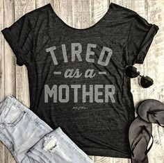 It's been a loooong week and us @Everfitte moms are feeling tired as a mother! Brand new @everfitte swanky tee just added to the site! (Link in bio)