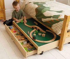 Smart Under-the-Bed Trundle Playtable