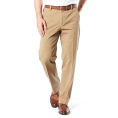 Men's Dockers® Smart 360 Flex Classic-Fit Workday Khaki Pants D3, Size: 36X32, Beig/Green (Beig/Khaki)