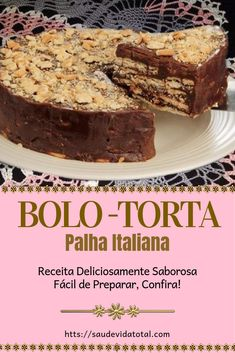 Bolo-torta Palha Italiana - Source by angelaengbrecht Cupcakes, Cake Cookies, Cupcake Cakes, Köstliche Desserts, Delicious Desserts, Dessert Recipes, A Food, Food And Drink, Trifle