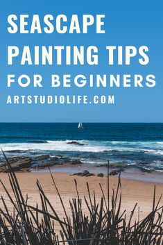 Learn how to paint seascapes with these important painting tips! Seascape painting tips. Seascape painting for beginners. Seascape painting tutorial. Seascape painting in oil paint. Oil painting for beginners. How to paint seascapes. How to oil paint. #seascape #seascapepainting #oilpaintingforbeginners #seascapepaintingtips #seascapepaintingtutorials #howtopaintseascapes Canvas Painting Tutorials, Oil Painting For Beginners, Oil Painting Tips, How To Start Painting, Learn To Paint, Seascape Paintings, Landscape Paintings, Acrylic Tips, Drawing Lessons