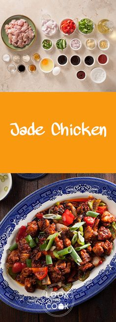 Jade Chicken recipe (LC14305 ) - Deep fried chicken cubes are glazed with spicy and slightly sweet sauce to tantalize your taste buds.