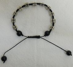 Antique Silver Color  Tibetan Style Beads and Black by lanesamarie