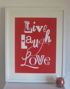 Image of Live Laugh Love