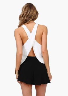 Cross Over Back Tank | Shop for Cross Over Back Tank Online -would make a nice cover up