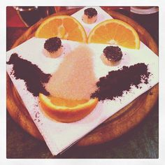"""Ever tried an """"Eby Shot"""" from Eby's Bar??    Step 1: take orange slice, dip one side in coffee and one side in brown sugar  Step 2: eat orange with coffee side down  Step 3: take shot  Step 4: chase with poppy seed covered banana"""