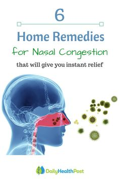 There's nothing more annoying than not being able to breathe properly. People living with seasonal allergies know this all to well. You may sometimes feel like there isn't be enough tissue and nasal decongestants in the world to clear up your fussy nose!Here are a few home remedies for nasal congestion that will actually give you relief. #home#remedies