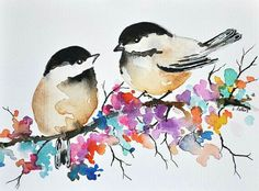 29 new Ideas for painting bird watercolor water colors Watercolor Drawing, Watercolor Flowers, Painting & Drawing, Watercolor Paintings, Watercolor Water, Painting Tattoo, Watercolor Portraits, Watercolor Landscape, Simple Watercolor