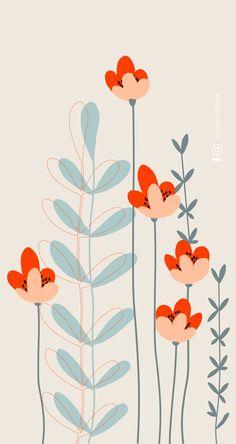 Iphone Background Wallpaper, Pastel Wallpaper, Aesthetic Iphone Wallpaper, Flower Wallpaper, Aesthetic Wallpapers, Iphone Wallpaper Illustration, Cute Patterns Wallpaper, Diy Canvas Art, Doodle Art