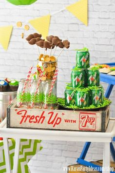 Mario Themed Birthday Party via Kara's Party Ideas - www.KarasPartyIde...