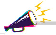 Stock Illustration : Vector megaphone in CMYK style. Sale Emails, Brand Building, Free Illustrations, Fashion Illustrations, Now What, Escape Room, Consumer Products, Business Branding, Public Relations