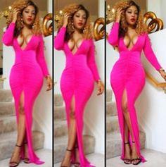 Sexy Body Club Wear fél Dress Celebrity Bandage Bodycon hosszú ruha Rose 4174