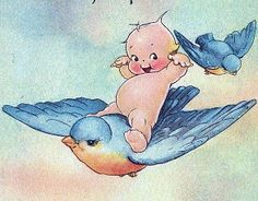 Vintage Kewpie Postcard Close-Up by chicks57, via Flickr