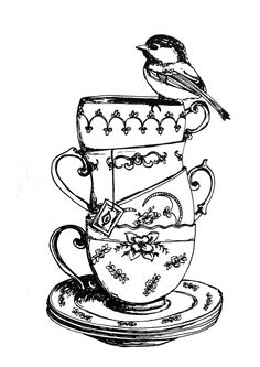 FROM WHO IS THIS?!?! pretty teacups sketch please let me know: karinjoan@gmail.com