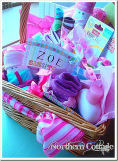 Super cute idea! Make a baby basket for your expectant friends or for a baby shower!