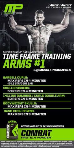 Looking to mix things up at the gym? Give this arm workout from our friends at MusclePharm a try! #DailyWorkout #MusclePharm