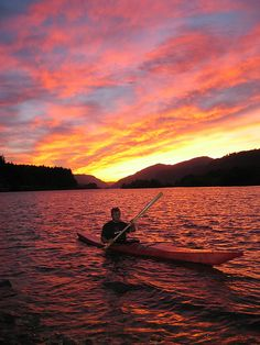 Kayak sunset #kayak #kayaking #sunset