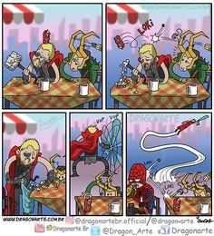 Cómics e imagenes Thor x Loki Loki Marvel, Loki Thor, Loki Art, Marvel Comics Art, Marvel Actors, Marvel Funny, Marvel Memes, Funny Comics, Superhero Humor