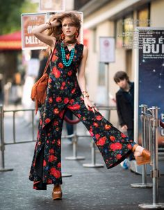 Yulia Serzhantova is all Hippied out and Glamorous in this Hippie Glam 70's editorial shot by Benjamin Kanarek for Harper's BAZAAR China