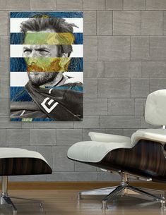 Discover «Van Gogh's Self Portrait and Clint Eastwood», Exclusive Edition Canvas Print by Luigi Tarini - From $59 - Curioos