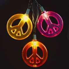 10/L MULTI-COLOR #PEACESIGNLIGHT SET  ITEM # UL4223 #noveltylights