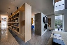 Great Shelving detail in this beautiful residence in Austin, by Dick Clark Architecture
