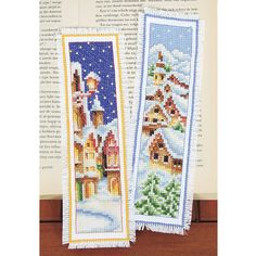 Snow Village Bookmark