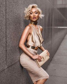 loft clothes Golden glow Choker, top & skirt from Micah Gianelli Fashion Moda, Look Fashion, Girl Fashion, Autumn Fashion, Fashion Dresses, Womens Fashion, Fashion Design, Miami Fashion, Luxury Fashion