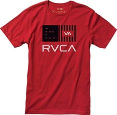 RVCA Men's Balance Bars T-Shirt, Red, Large: Screen printed at chest Screened inside neck details Maintenance Logo, Skateboard Shop, Little Designs, Printed Tees, Mens Fashion, Mens Tops, How To Wear, T Shirt, Shopping