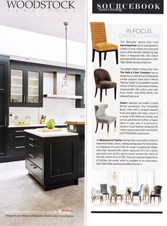 Beaumont & Fletcher dining chairs featured in the October 2016 issue of House & Garden. Sofa Chair, Dining Chairs, October, Home And Garden, House, Furniture, Design, Home Decor, Womb Chair