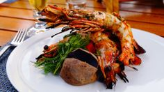 Madagascar Shrimp Chimichurri - Summer BBQ at The Peninsula Beverly Hills
