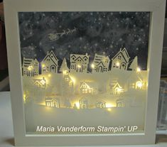 Crafty Maria's Stamping World: Hearts Come Home Lighted Shadow Box - a case
