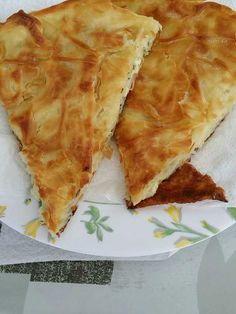 gruyère, pâte feuilletée, margarine, ail, crème fraîche épaisse, persil, feta