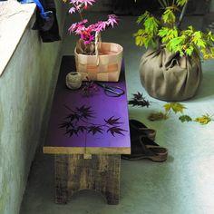 Peindre un banc de feuilles d'érable en ton sur ton