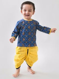 8e6ae5ee5 Buy Mouse Print Dhoti Kurta Set Boys Kurta
