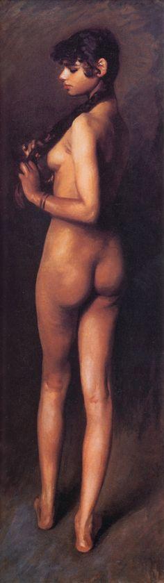John Singer Sargent - Nude Egyptian Girl (1891)