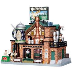 Lemax Collectibles | Lemax Caddington Village Sights & Sounds | Lemax Yulesteiner Brewery #05073 - American Sale