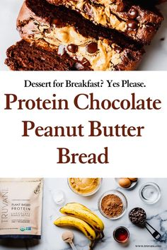 This low carb recipe is protein packed and made with the best healthy ingredients. Keep this one pinned to your top gluten free healthy recipes because we can't get enough! It makes for a great gluten free dessert for living a healthy lifestyle. #healthydessert #proteindessert #glutenfreebread #proteinbread Healthy Gluten Free Recipes, Gluten Free Desserts, Delicious Recipes, Low Carb Recipes, Real Food Recipes, Yummy Food, Butter Bread Recipe, Peanut Butter Bread, Peanut Butter Protein